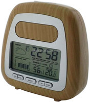 New model wooden water power weather station lcd clock