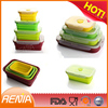 RENJIA flexible silicone collapsible bowl,foldable food container,foldable container silicon