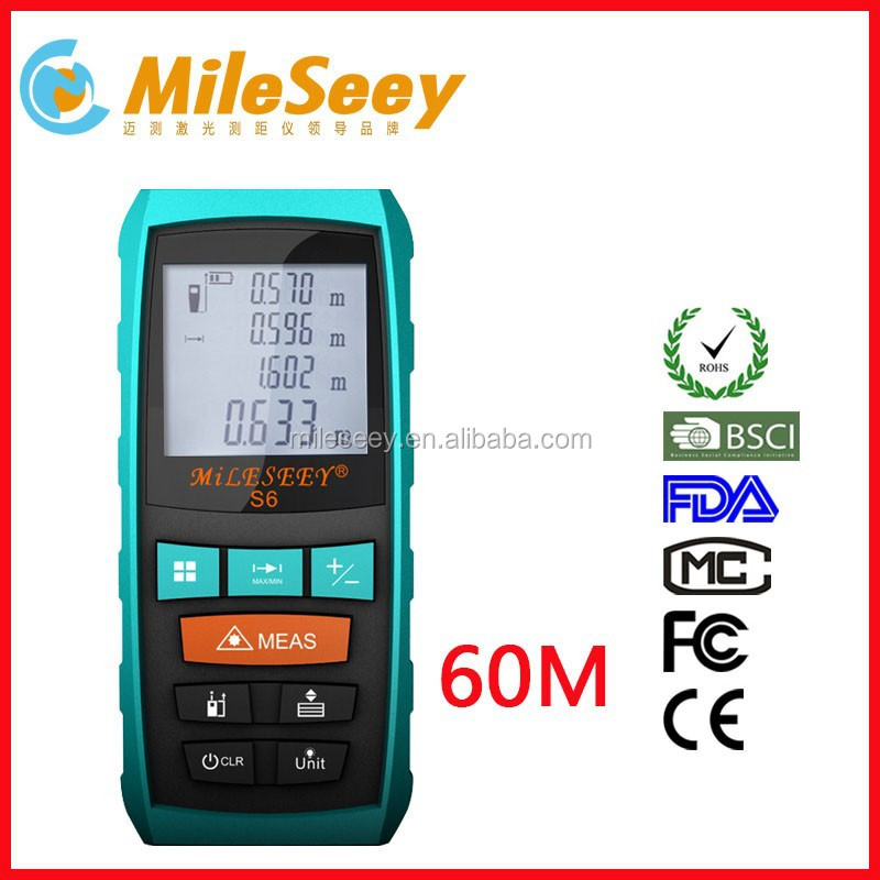 New Mileseey S6 60M portable digital laser speed meter