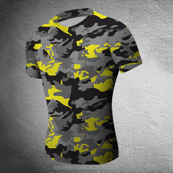 color camo fast dry tight fit t shirts super sport plus size camoflage short sleeve t shirts