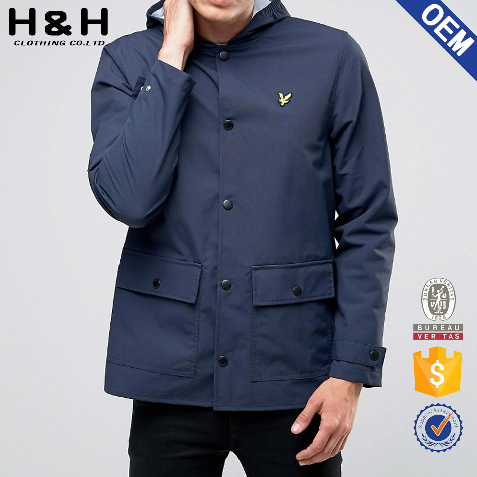 Clothing manufacturer long cotton trench coat for men