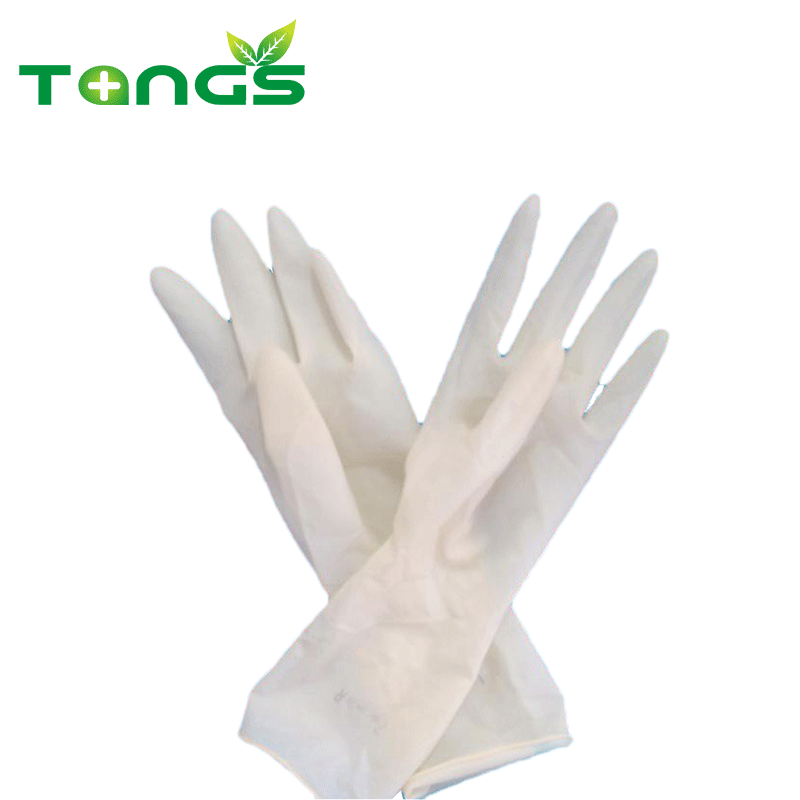 Concise design disposable surgical non sterile latex gloves