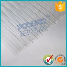 100% virgin material GE bayer 8mm twin wall colored cheap lexan hollow polycarbonate sheet price for greenhouse