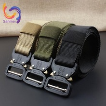 "1.5"" x49"" Custom Logo Heavy Duty Nylon Webbing Military Belt, Quick Release Cobra Buckle Survival Belt for Outdoor Army Use"