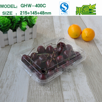 Chinese packaging custom mede hard transparent plastic fruit packaging box