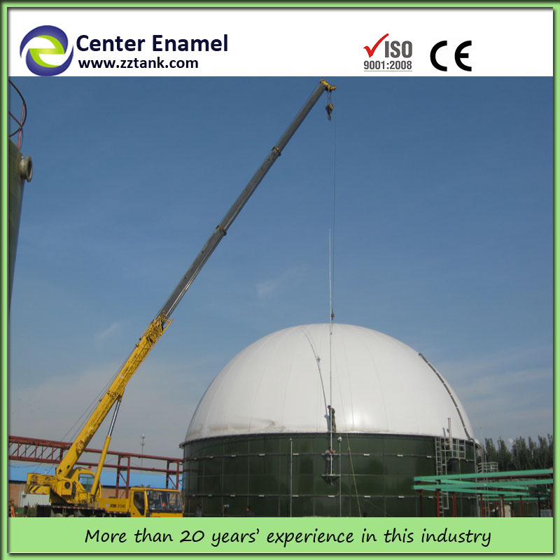 Enamel Anaerobic Digester Tank for Fermentation DAF UASB EGSB Secondary Clarifier Sedimentation Made of 3mm-12mm Enamel Steel