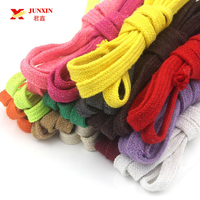 Wholesale Braided Colored Custom Logo Polyester Hoodie Flat Cord Stretch Cotton String Cord for Pants