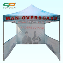 Custom made portable aluminum frame polyester fireproof gazebo kiosk tent with wholesale price