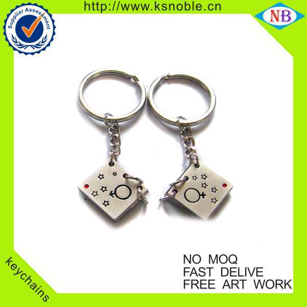Custom promotion metal keychain keyring factory