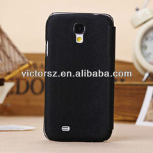 black business leather case for samsung s4 i9500 with card holder luxury