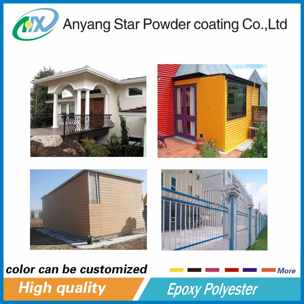 Building surface epoxy powder coatings