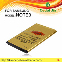 lithium polymer battery for Samsung Galaxy Note 3 N9000 Gold mobile phone battery