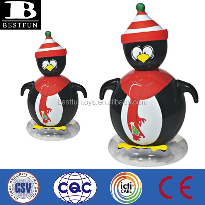 Promotional PVC Christmas inflatable penguin decorative holiday penguin inflatables