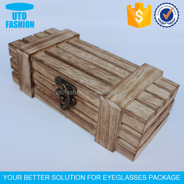 YT7501 Custom wooden glasses gift case