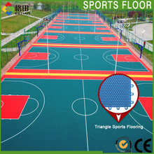 Shock absorption basketball court price, portable basketball court sports flooring cost