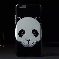 New Fashion Luminous Animals Head Panda Pattern Case For iphone 6