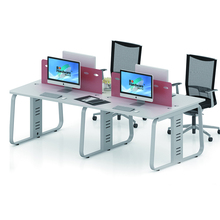Modular 4 seats office workstation cubicle desk