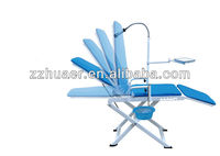 portable dental chair with operation light & instrument tray/dental chair price/dental chair