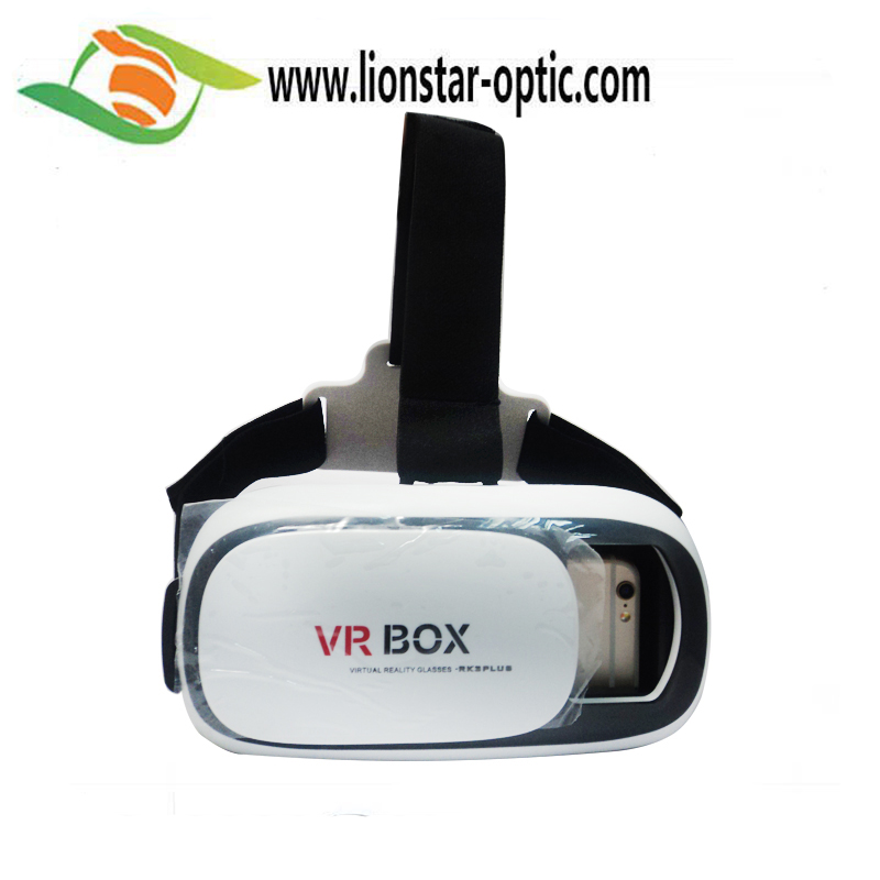Manufacturer Custom ABS Plastic Google VR Headsets 3D Glasses , 3D Virtual Reality Glasses