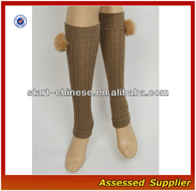 Women Boot Socks/2015 Hot Sale Women Boot Socks With Fashion Fuzzy Balls/ Wholesale Boot Socks QH-N028