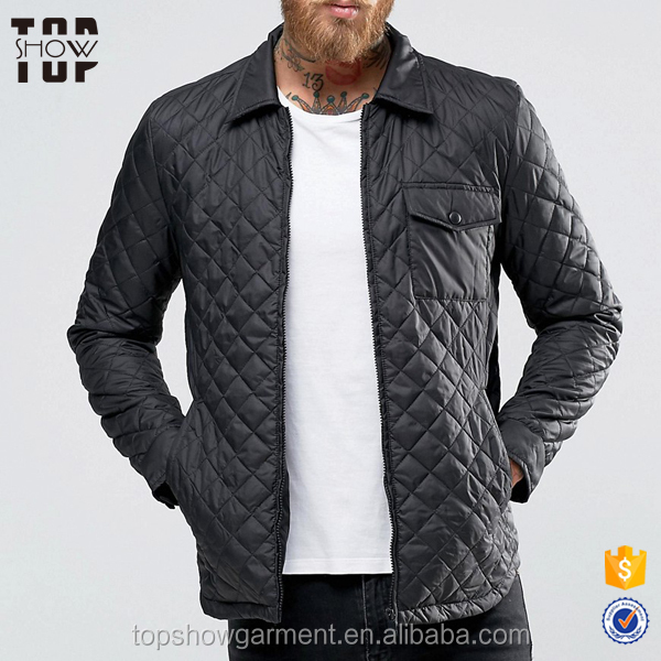 China jacket manufacturers high quality black quilted jackets men jackets winter