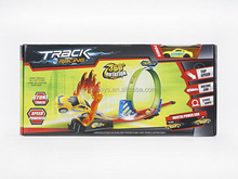 Pull Back Orbit Track High-speed Racing Slot Car And Plane Toys Set