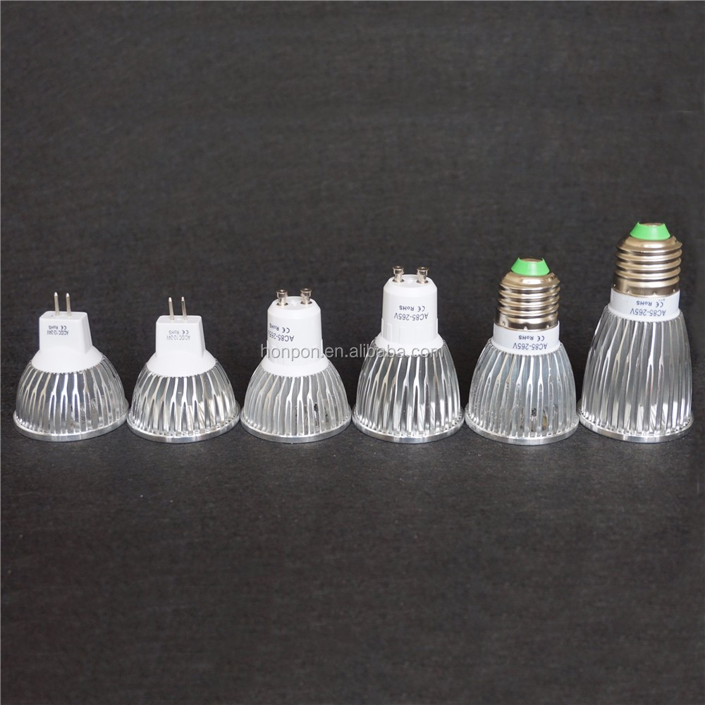 AC/DC 12V 220V 3W 5 W 7W 10W LED COB BULB MR16 GU10 GU5.3 B22 E27 LED spot light Alibaba