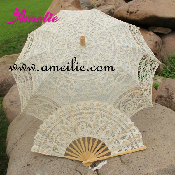 Victoria cotton wedding umbrella