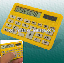 8 bit Portable Soft Silicone Waterproof pocket solar power calculator
