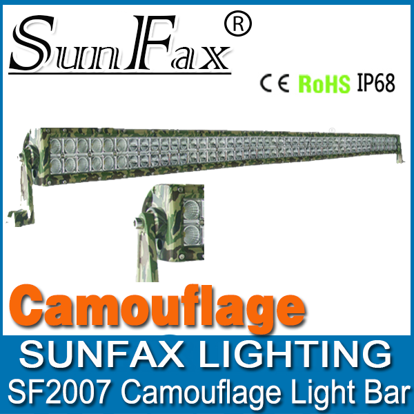 "New design! 52"" 300w led light bar camouflage, 4x4 tractor ATV SUV off road led driving light"