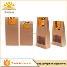 Recycled take away thicker window kraft paper bag for food