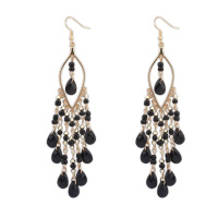 7537 Charm Vintage Bohemian Long Tassel Dangle Earrings Statement Earring