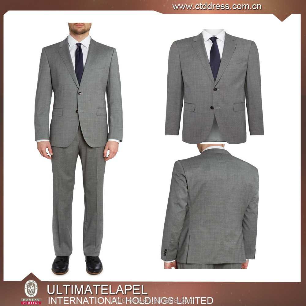 2014 fashion slim fit long sleeve single breasted turn down collar formal business mens suits