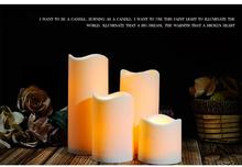 china manufacture ivory wax flameless dancing led candle scented flameless windproof moving magic flame led candle wholesale