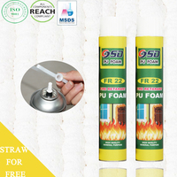 750ml 500ml 300ml construction expanding REACH insulation spray fire rated pu foam