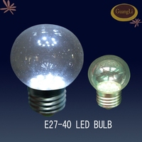 e27 b22 0.5W 1W glass led clear round bulb