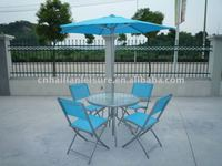 Folding glass garden furniture