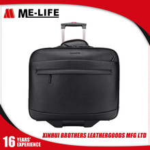 Chinese manufacturers direct sales laptop bag travel trolley luggage bag with two wheels