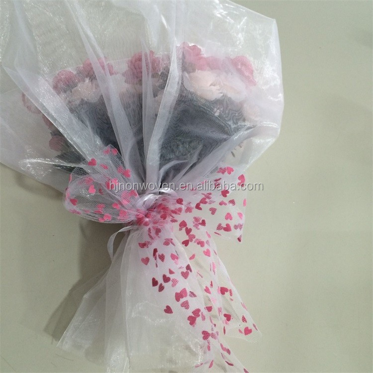 polyester tulle for flower wrapping
