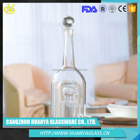 Customized crystal cut glass wine bottle unique products from china