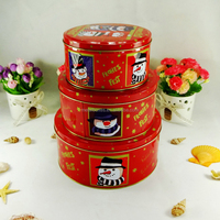 Custom Christmas Gift Round Tin Box