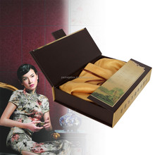 New boutique girl clothing / foldable t-shirt packaging boxes supplier luxury clothing packaging box for silk scarf box