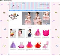 baby clothing ecommerce website design and development