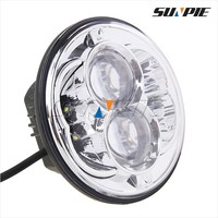 Make in China reasonable projector 5'' projector headlight with Black and Chrome bezel 5'' led projector headlight for Harley