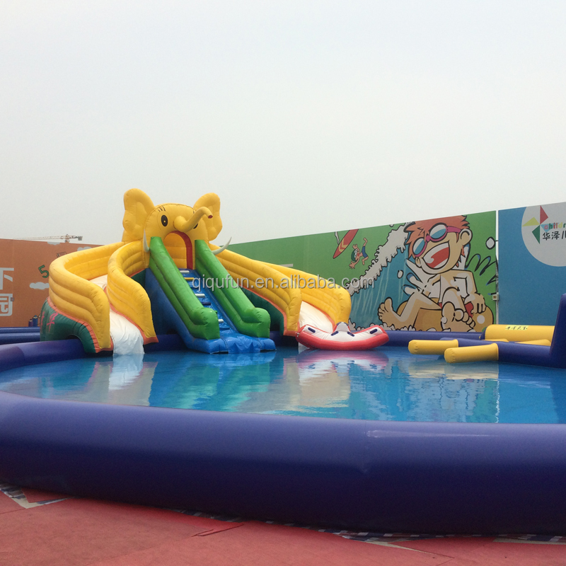 The newest cheap funny giant elephant inflatable water slides wholesale