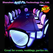 led lighting illuminated upholstered dining chairs for hotel