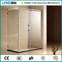 CE cerfificate corner aluminum curved shower screen