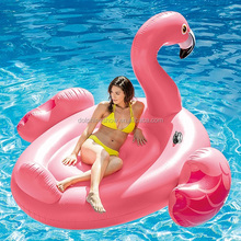 2017 New Product Giant 2 Person PVC Inflatable Pink Flamingo pool float