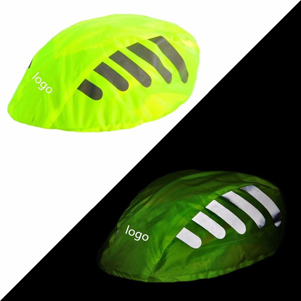 Waterproof Bicycle Helmet Cover With Reflective Stripes