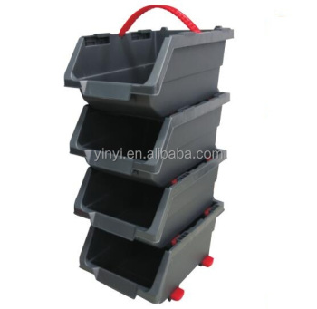 Storage Organizer, Plastic storage tool box, stackable bins